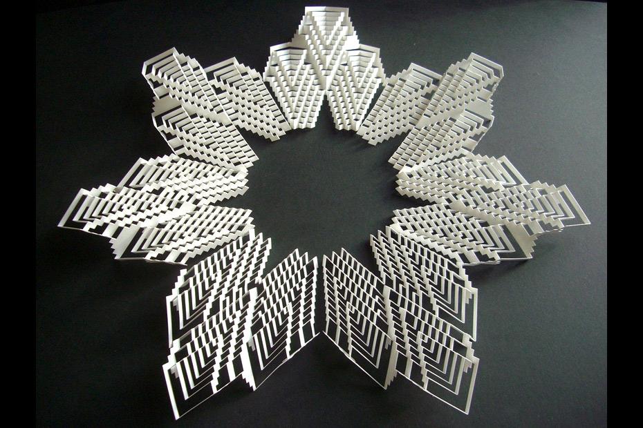 paper art flower pattern