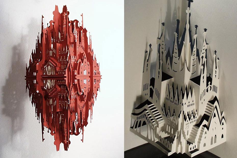 Sagrada Familia paper art