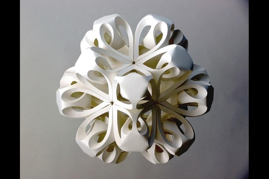 Icosahedron II paper art