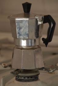 photo of a moka for coffee