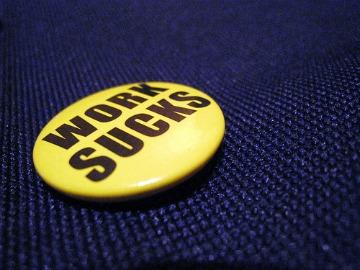 work sucks badge