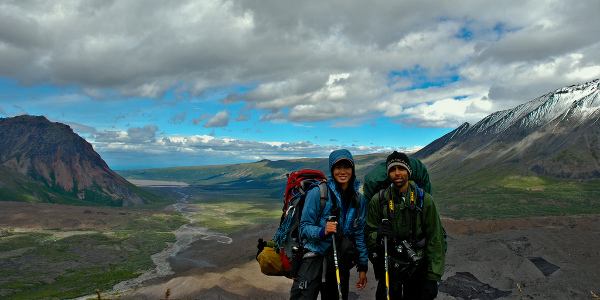 backpacking in the backcountry photo