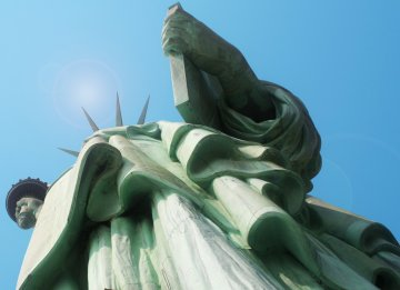 Statue of Liberty low angle