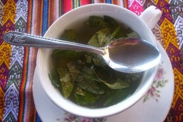 Coca tea mug in Cuzco