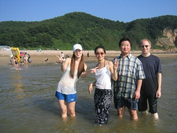 On the beach on a Korean island