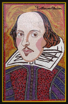 Mosaic portrait of Shakespeare