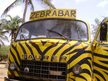 Bus at Zebrabar, Senegal