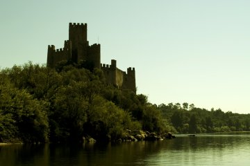 Castle Almourol in Portugal