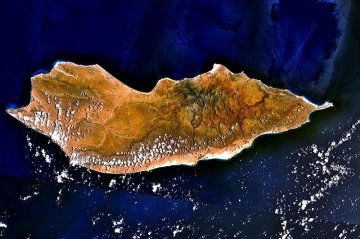 Satellite image of Socotra Island