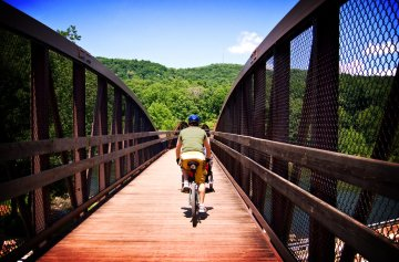 Cycling the Great Allegheny Passage