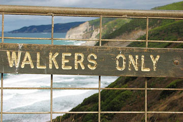 Walkers only sign