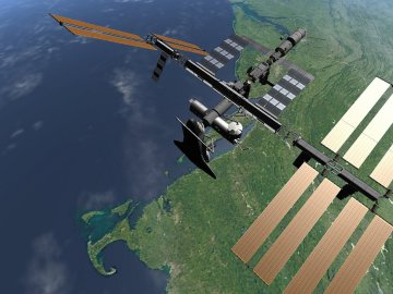 Simulated view of the International Space Station
