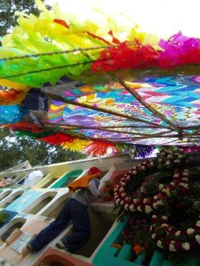 Barrilete gigante in Santiago Sacatepéquez, Guatemala