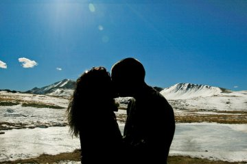 Kissing on Independence Pass, Colorado