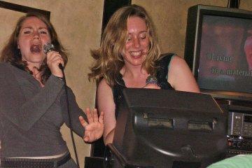 Singing karaoke in Japan