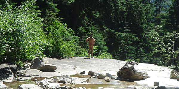 nude hiker