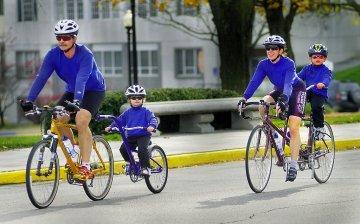 Family biking trip