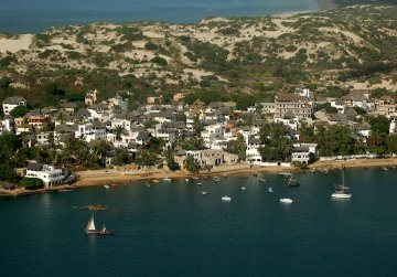 Lamu Town from the air