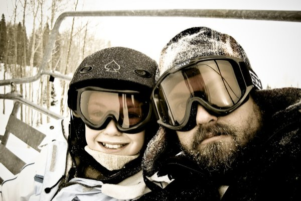 Happiness on the chairlift