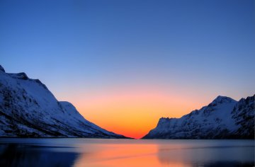 Arctic summer sunset