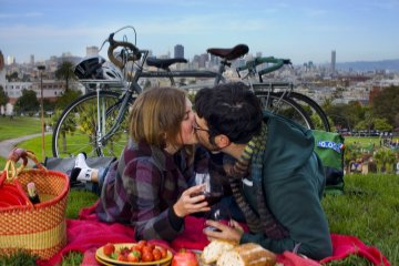 Dolores Park picnic, San Francisco
