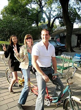 Tandem bike in Beijing