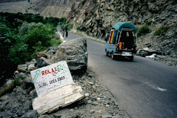 Slide area, Karakoram Highway