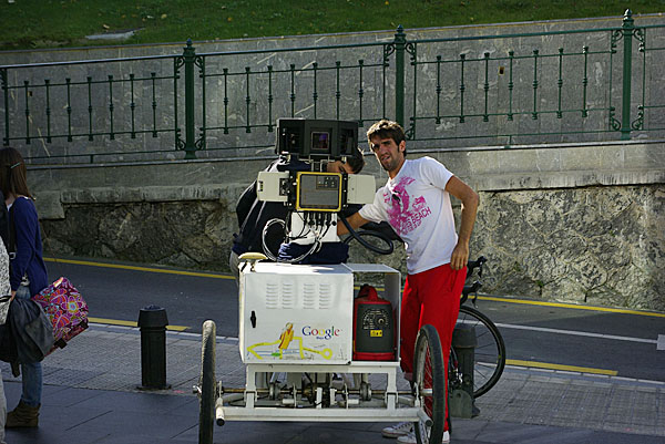 Google street view by bike