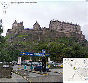 Edinburgh Castle on Google street view