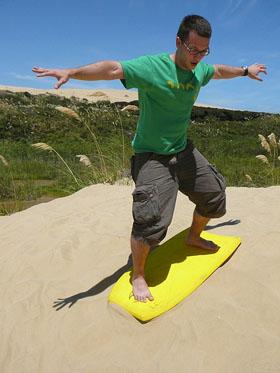 Dune surfing