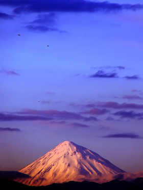 Mount Damavand sunset