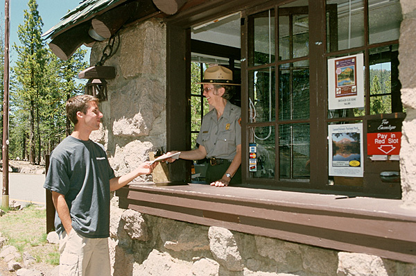 Buying tickets at a National Park