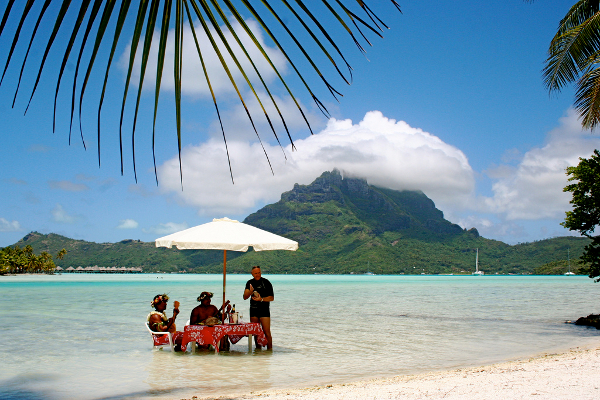 Lunch in Bora Bora