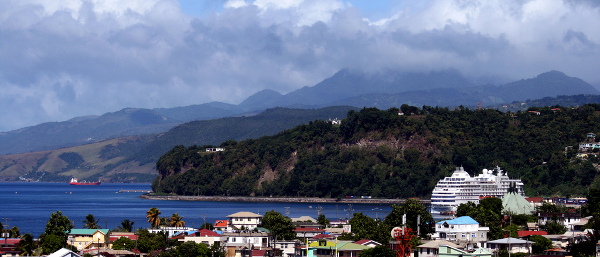 Dominica seen from the ship
