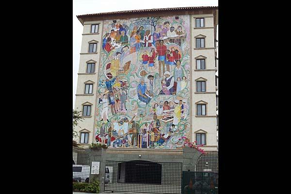 Villa Harvey Mandel épület mozaik