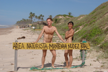 Nudist beach couple