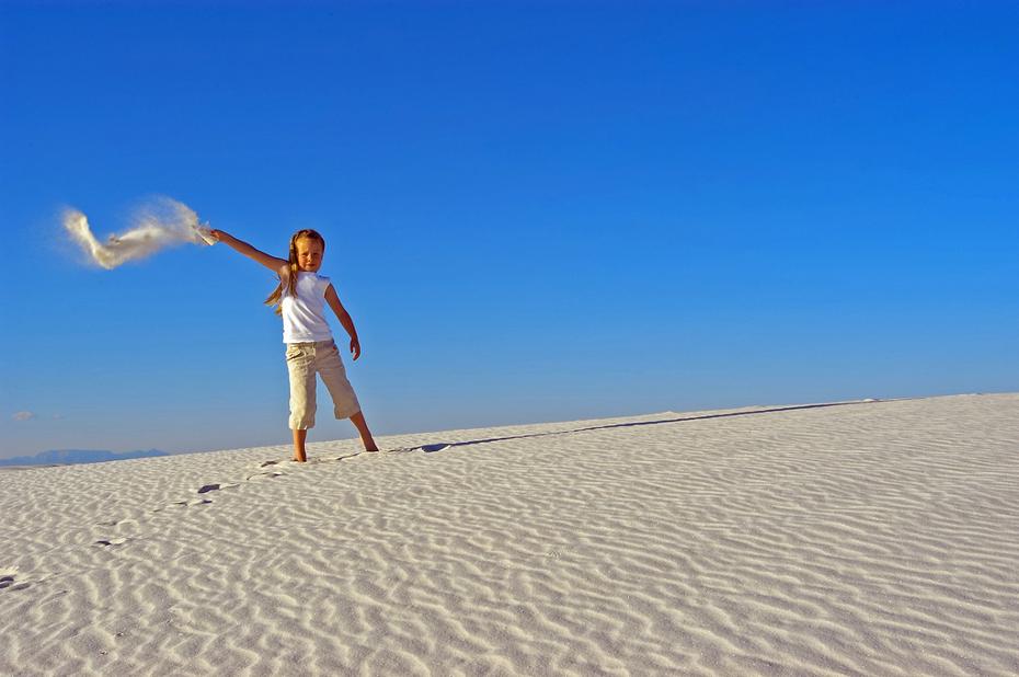 Girl at White Sands
