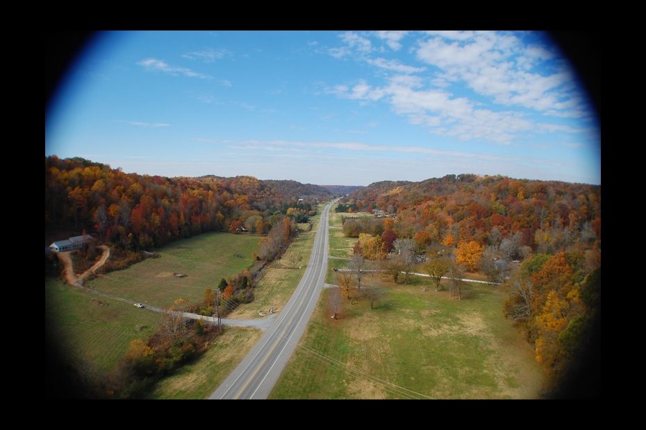 Natchez Trace from the air