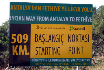 Lycian Way sign