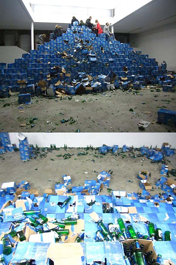 pile of beer
