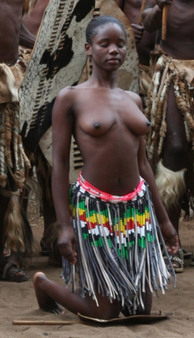 Topless Zulu woman