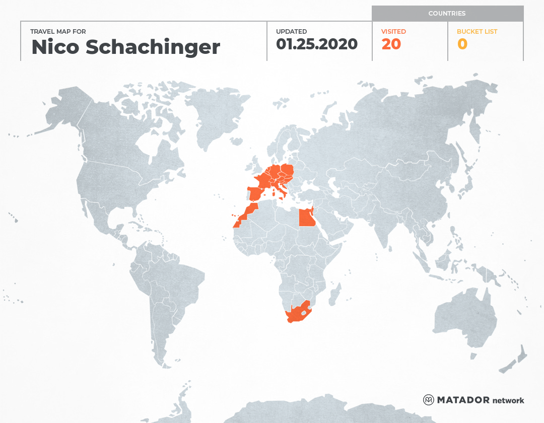 Nico Schachinger's Travel Map