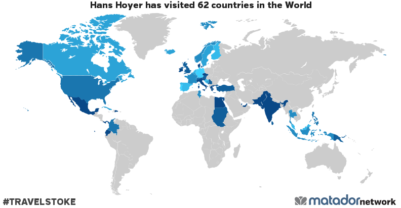 Hans Hoyer's Travel Map