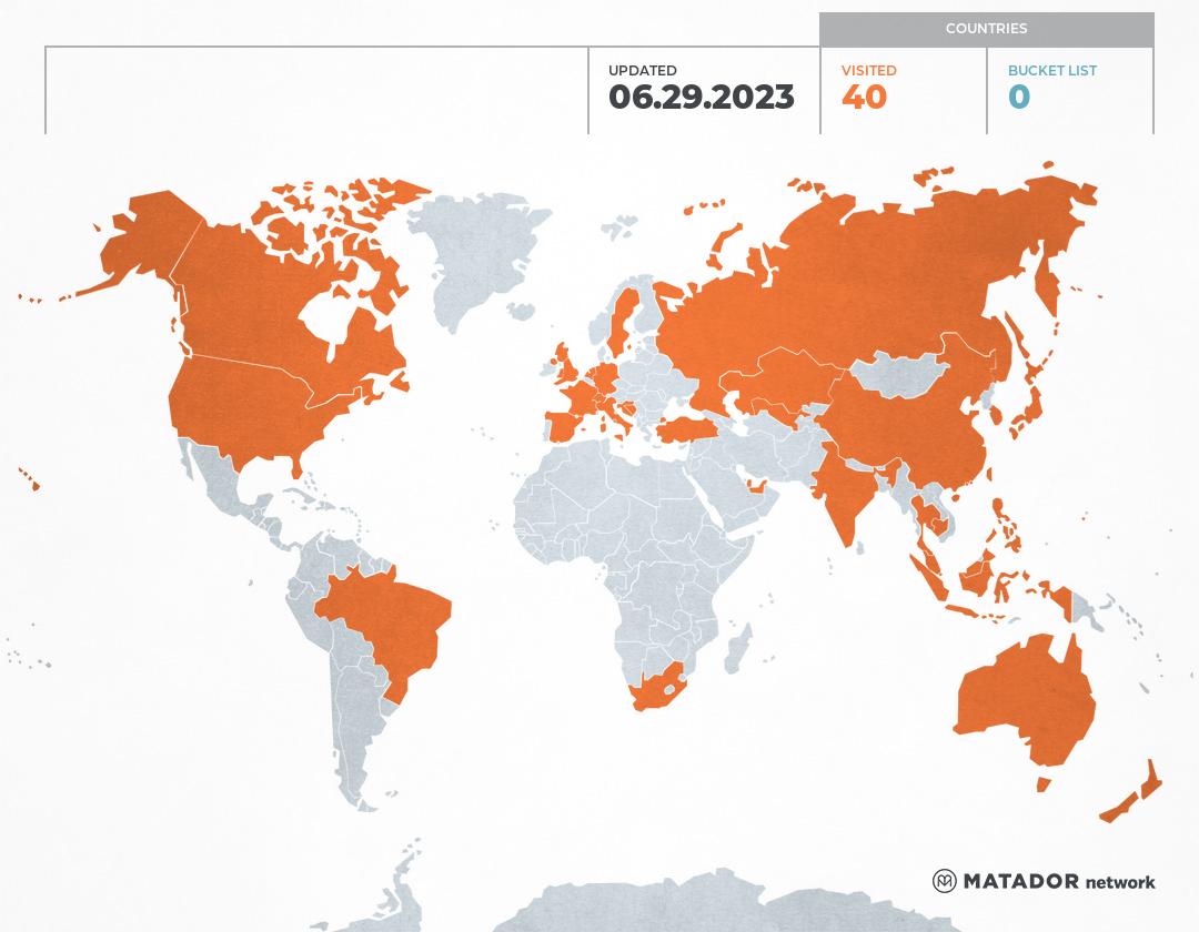 MASUDA's Travel Map