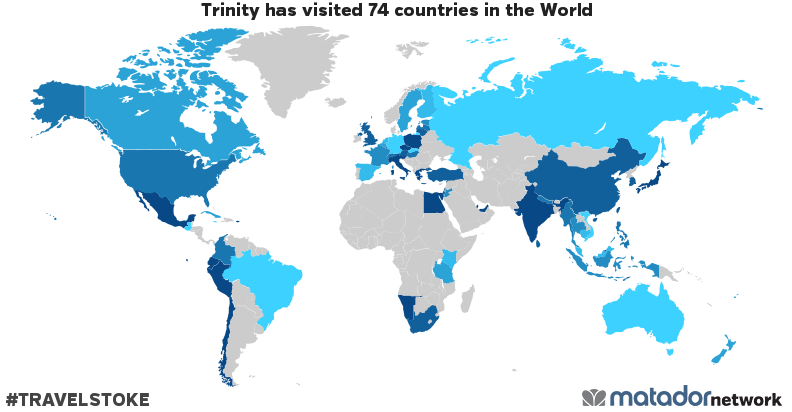 Trinity's Travel Map