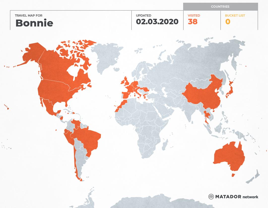 Bonnies Travel Map Matador Network - Republic of fiji map