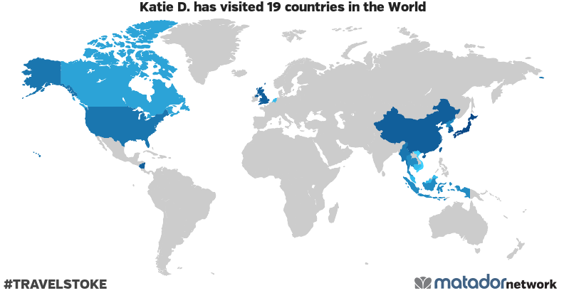 Katie D.'s Travel Map