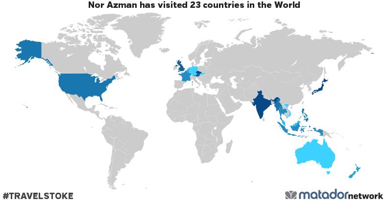 Nor Azman's Travel Map