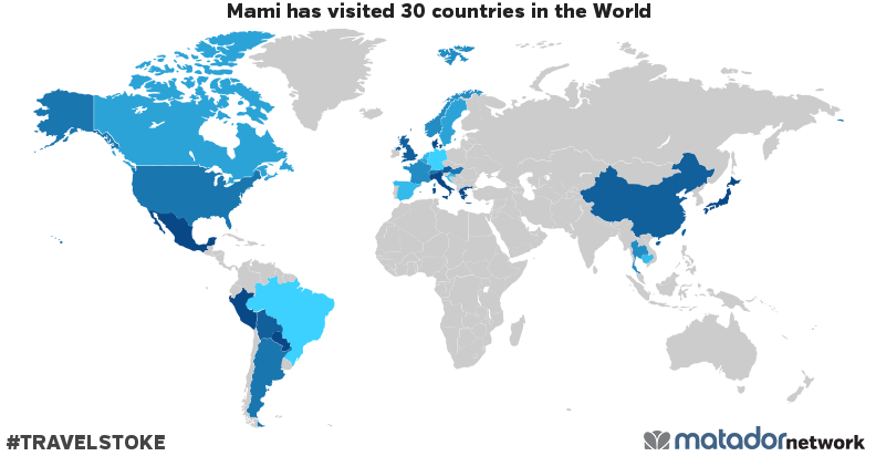 Mami's Travel Map