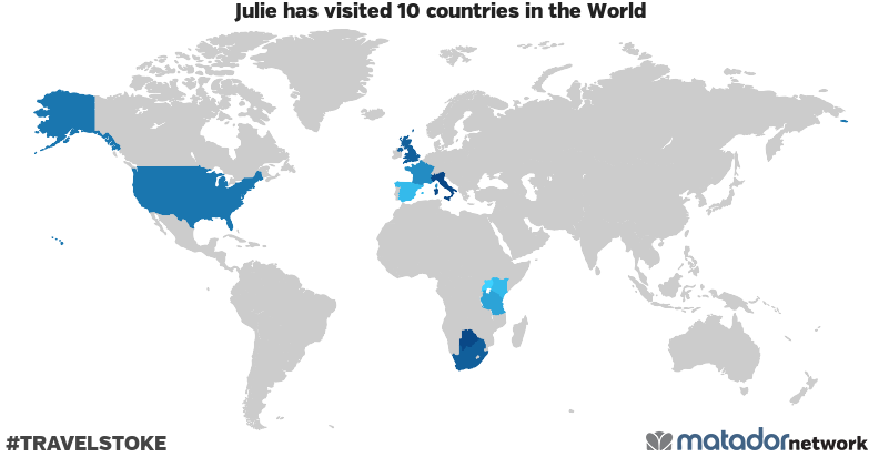 Julie's Travel Map